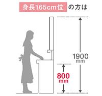 洗面台の高さ