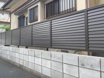 大阪市東淀川区 K様邸(フェンス取替工事)
