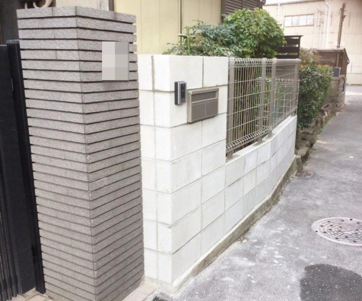 大阪市東淀川区 K様邸(フェンス工事)