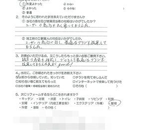 増改築工事 (大阪市東淀川区 H様の声)